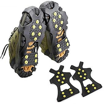 Anti-Rutsch-Schnee-Eis-Kletterschuh Spikes Griffe, Crampons Cleats Overshoes