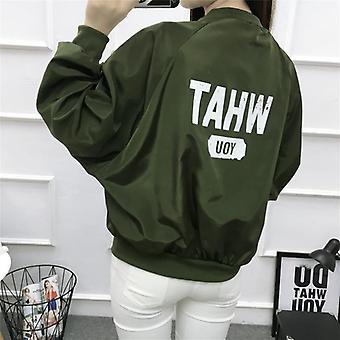 Clown Print Fashion Thin Chic Windbreaker Outerwear Bomber Baseball Jacket