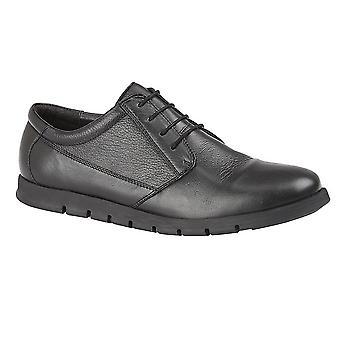 Dr Keller Mens Blind Eyelet Leather Shoes