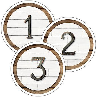 Industrial Chic Student Numbers Mini Cut-Outs, Pack Of 35