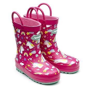 Chipmunks Girls Unity Wellingtons Pink