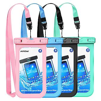 Mpow waterproof case, ipx 8 universal waterproof case underwater dry bag 4-pack compatible for iphon