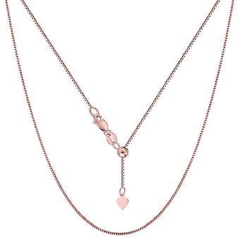 """14 k Rose Gold einstellbare Box Kette Halskette, 0,7 mm, 22"""""""