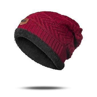 الشتاء الدافئة، لينة المخملية، سميكة قبعة وشاح مجموعة- جمجمات القبعات الفول للرجل &