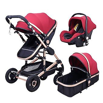 High Landscape Baby Stroller 3 In 1 Stroller Multifunctional Car