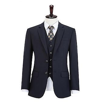 Abito da lavoro a righe di lana, blazer slim fit uomo