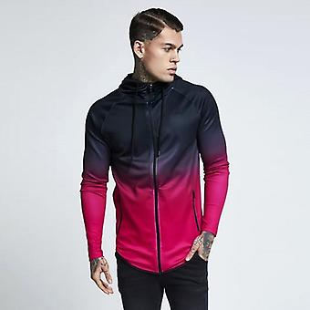 Heren Hooded Sportswear Windproof Jackets