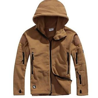 Men Military Winter Thermal Fleece Tactical Jacket/sports Hooded Coat,