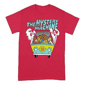 Men's Scooby Doo Mystery Machine Red Crew Neck T-Shirt