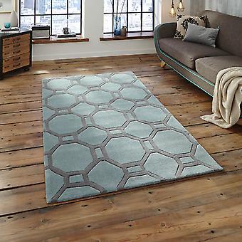 Hong Kong Hk 4338 tapijten In blauw grijs