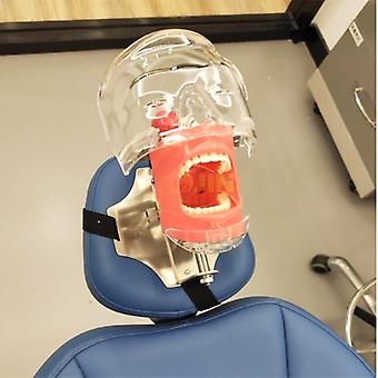 Dental Simulator Head Model Installed On The Pillow Of The Dental Chair (tied