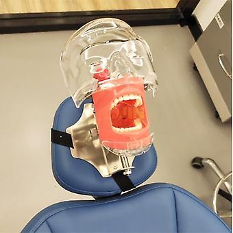 Hammassimulaattorin päämalli asennettu hammastuolin tyynyyn (sidottu