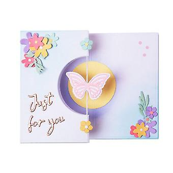 Sizzix Thinlits Die Set - 14pk Butterfly Spinner Card 665074 Georgie Evans