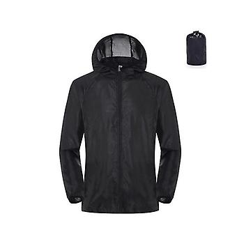 Men Women Waterproof Sun Protection Camping Rain Jacket