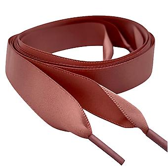 Rose Gold Beige Satin Ribbon Shoelaces Laces
