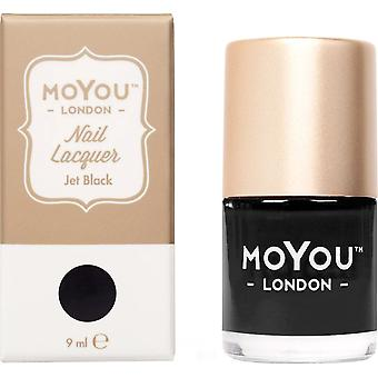 MoYou London Stamping Nail Lacquer - Jet Black 9ml (MN142)
