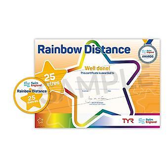 ASA zwemmen Engeland Rainbow afstand zwemmen Award - 25M