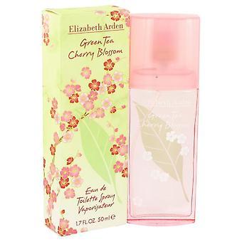Groene thee Cherry Blossom Eau De Toilette Spray door Elizabeth Arden 1.7 oz Eau De Toilette Spray