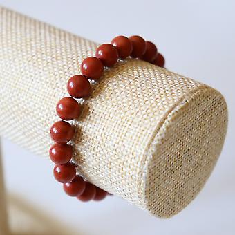 Bracelet En Jaspe Rouge – Perles 8mm