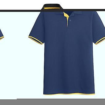 Allthemen Mænds Golf Polo Shirt To-tone Classic Kortærmet Shirts
