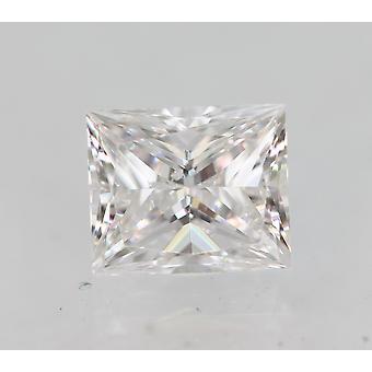 Sertifioitu 0,41 karat D VS1 Princess Enhanced Natural Loose Diamond 4.56x3.82mm
