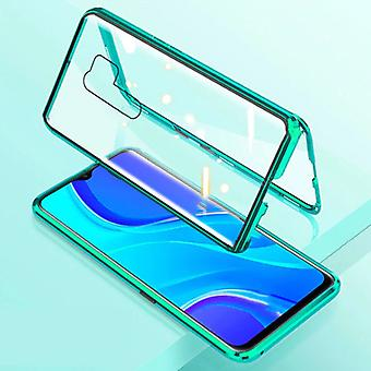 Stuff Certified® Xiaomi Poco X3 Pro Magnetic 360 ° Case with Tempered Glass - Full Body Cover Case + Screen Protector Green