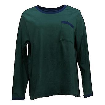 Cuddl Duds Women's Pajama Top Regular Fleecewear Stretch Green A381825