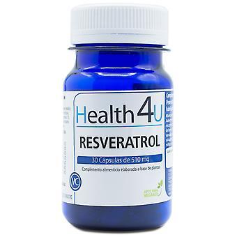 Health 4U Resveratrol 510 mg 30 Capsules