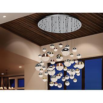 Dimmable 55 Light Integreret LED Light Pendant Light Cluster Drop, Chrome, Kobber, Messing, Bluetooth-kontrol