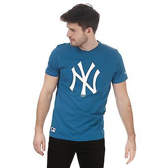 Menns New Era Team Logo New York Yankees T-skjorte i blått