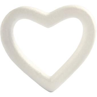 Polystyrene Heart, W 13.5 cm, 1 pc