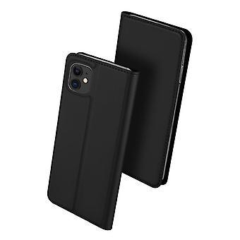 Dla iPhone 12 mini obudowa odporne anty spadek klapka klapka okładka czarny