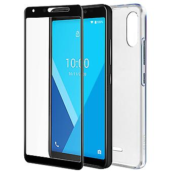 Wiko Y51 Rigid cover/Screen protector Pack Tempered Glass Original Clear