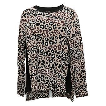 Cuddl Duds Women's Sweater Plus Fleecewear Stretch Hi Lo Brown A381711