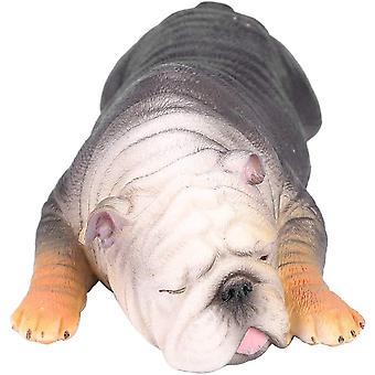 VGEBY1 Bulldogge Modell, Schlfrige Bulldogge Spielzeug Franzsisch Liegend Tiermodell fr Kinder
