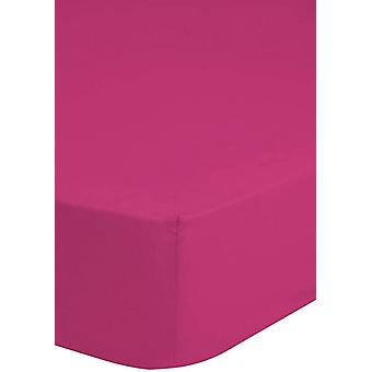 stretch lakan 80 x 200 cm bomull rosa