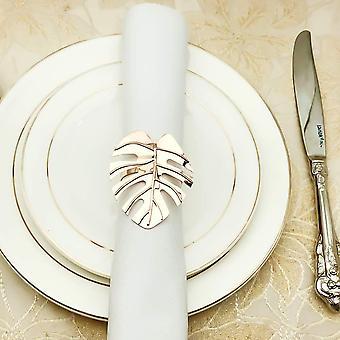 Wokex Serviettenringe Gold Silber Serviettenringe/Metall Serviettenschnallen fr Hochzeitsfeier