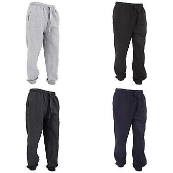 FLOSO Mens Elasticated Jog Pants / Jogging Bottoms (Closed Cuff)