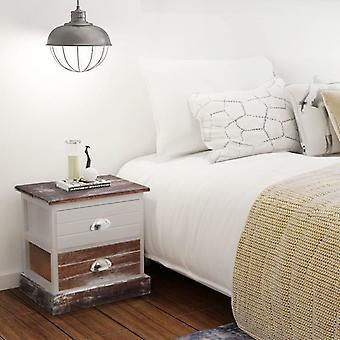 vidaxL nattbord 2 stk. brun og hvit