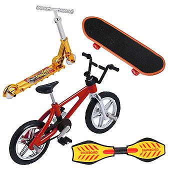 1 Set Mini Finger Toys Finger Skateboard Bike Scooter Finger Sports Gift