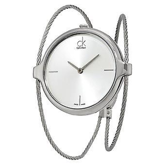Calvin Klein K2Z2S116 Silver Dial Stainless Steel Ladies Watch
