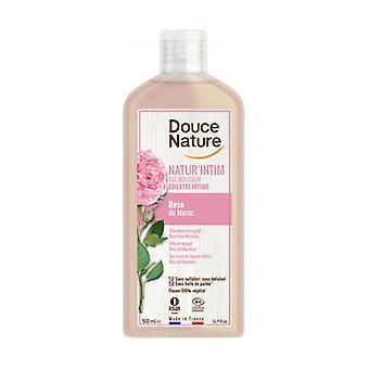 Gentle intimate cleansing gel Rose du Maroc BIO 500 ml of gel