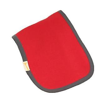 Red & grey trim plain burp cloth