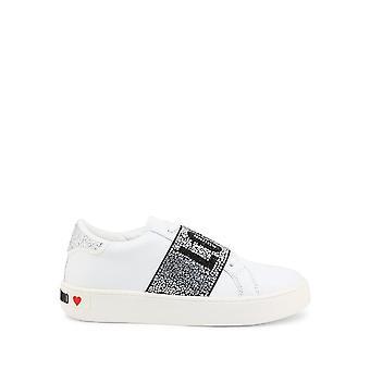 Love Moschino - Shoes - Sneakers - JA15103G1CIA0-100 - Women - white,silver - EU 36