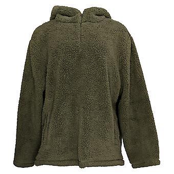 Koolaburra By UGG Women's Brushed Back Sherpa 1/4 Zip Hoodie Green A386546
