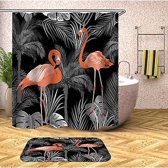 Dim Pink Flamingos Rideau de douche
