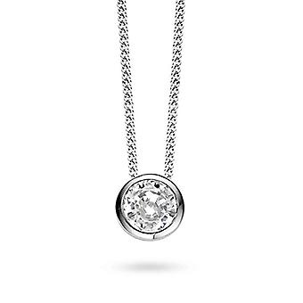 TI SENTO MILANO 3807ZI/42 - Sterling Silver Necklace Plated with Rhodium with Cubic Zirconia