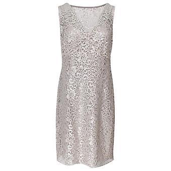 Frank Lyman Sleeveless Lace Detail Cream Dress