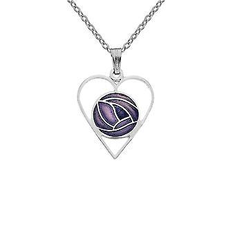 Sea Gems Mackintosh Ruusu sydän kaulakoru Violetti Riipus 7323p