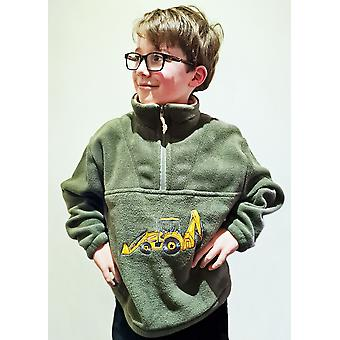 Lasten keltainen digger vihreä fleece villapaita